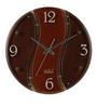 Safal Quartz Dark Brown MDF 12 x 12 x 2 Inch Wall Clock