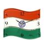 Safal Quartz Multicolor MDF 14.5 x 12 Inch Flag Shaped Wall Clock