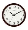 Safal Quartz Round Brown & White MDF 16 x 16 x 2 Inch Wall Clock