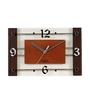 Safal Quartz Brown & White MDF 7 x 11 x 2 Inch Wall Clock