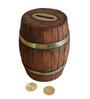 Saaga Brown Sheesham Wood Barrel Hand Crafted Coin Box Showpiece