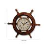 Saaga Brown Sheesham Wood & Brass Wheel Clock