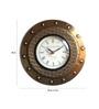 Saaga Gold Seasoned Wood Wall Clock