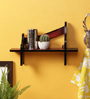 Crafts Land Red MDF Hand Painted London Bench Shaped Wall Shelf