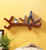 Crafts Land Teak MDF Hand Painted Branch Shaped Wall Self