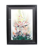 Sadhana Porwal Wooden 24 x 1.5 x 36 Inch Glossy Hues Humayun's Feather Crown Framed Painting
