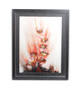 Sadhana Porwal Wooden 24 x 1.5 x 36 Inch Liquid Orange Flame An Ensemble of 7 Floral Crown's Framed Painting