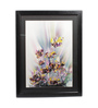 Sadhana Porwal Wooden 24 x 1.5 x 36 Inch Manthan A Riot of Purple Blue Florals Framed Painting