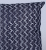 Sadyaska Indigo Denim 16 x 16 Inch Alabama Hand Block Printed Cushion Cover