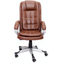 (Free Kid Chair)Saecula Executive High Back Chair in Brown Color By VJ Interior
