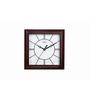Safal Quartz Square Shapped Brown MDF Wall Clock