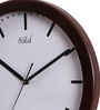 Safal Quartz Black MDF 13.5 Inch Round Strokes Wall Clock