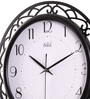 Safal Quartz Black MDF 14 Inch Round Big Dial with Bold Figured View Wall Clock