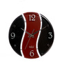 Safal Quartz Round Black & Rust Clock MDF Wall Clock