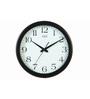 Safal Quartz Round Black  MDF Wall Clock