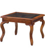 Bissoni Prime Glass Top Coffee Table in Honey Oak Finish by Amberville