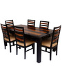 Winona Solid Wood Six Seater Dining Set in Dual Tone Finish by Woodsworth