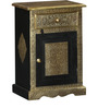 Kanak Bed Side Table with Brass Repousse Work by Mudramark
