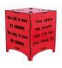 Saibhir Red Wood Table Lamp