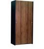 Michi Two Door Sliding Wardrobe in Solid Black & Columbia Finish by Mintwud