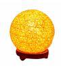 Salebrations Yellow Yarn Ball Table Lamp