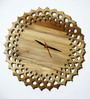 Salmita Handmade Wall Clock in Brown by Bohemiana