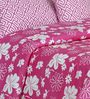 Salona Bichona Pink Floral Double Bed Sheet Set