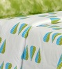 Salona Bichona White, Blue, & Green Bed Sheet Set