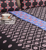 Salona Bichona Black Cotton 98 x 86 Inch Double Bed Sheet (with Pillow Covers)