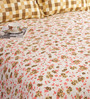 Salona Bichona Brown Cotton Floral 98 x 86 Inch Bed Sheet Set (with Pillow Covers)