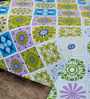 Salona Bichona Multicolor Cotton Floral Bed Sheet Set (with Pillow Cover)