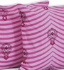 Salona Bichona Pink Cotton 16 x 16 Inch Cushion Covers - Set of 5