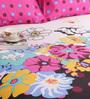Salona Bichona Pink Cotton Geometric Bed Sheet Set (with Pillow Covers)