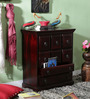 Percy Chest of Drawers in Passion Mahogany Finish by Amberville