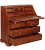 Beatrice Study Table cum Chest of Drawer in Honey Oak Finish by Amberville