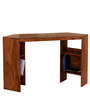 Elkhorn Open Computer Table with Shelfs in Honey Oak Finish by Woodsworth