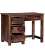 Everson Study & Laptop Table in Provincial Teak Finish by Woodsworth