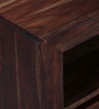 Oakland Three Drawered Entertainment Unit with Shelf in Provincial Teak finish by Woodsworth