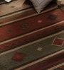 Samara Carpets Multicolour Cotton & Wool Abstract Carpet