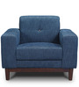 San Dimas One Seater Sofa in Midnight Blue Colour by CasaCraft