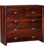 Polson Chest of Five Drawers in Honey Oak Finish by Woodsworth