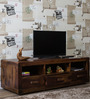 Ontario Solid Wood Entertainment Unit in Provincial Teak Finish by Woodsworth