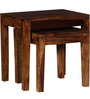 Madison Solid Wood Set Of Tables in Provincial Teak Finish by Woodsworth