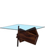Tomah Coffee Table in Provincial Teak Finish by Woodsworth