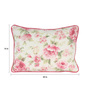 Sanaa Multicolour 100% Cotton 20 x 14 Inch Big Directional Floral Printed Cushion Cover