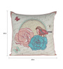 Sanaa Multicolour 100% Cotton 20 x 20 Inch 3 D Butterfly with Patch Work Cushion Cover