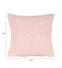 Sanaa Pink 100% Cotton 16 x 16 Inch Leno Weave Cushion Cover