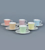 Sanjeev Kapoor's  Ribbed Cups & Saucers - Set of 6
