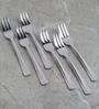 Sanjeev Kapoor Solitaire Stainless Steel Pastry Fork - Set Of 6