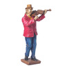 Sanskruti Multicolour Polyresin Musician Playing Violin Showpiece